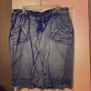 Blue jean plus size skirt